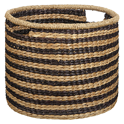 John Lewis Fusion Striped Seagrass Basket