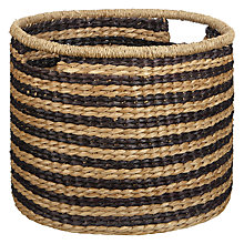 Buy John Lewis Fusion Striped Seagrass Basket Online at johnlewis.com