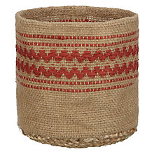 Buy John Lewis Jute Storage Basket, Paprika Online at johnlewis.com
