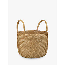 Buy John Lewis Fusion Natural Seagrass Basket Online at johnlewis.com