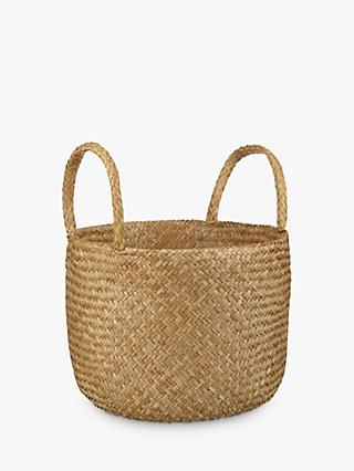 John Lewis & Partners Fusion Natural Seagrass Basket
