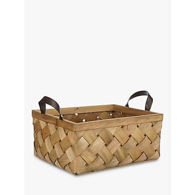 John Lewis & Partners Fusion Woven Wood Basket
