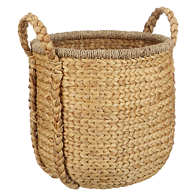 John Lewis Country Plaited Water Hyacinth Basket