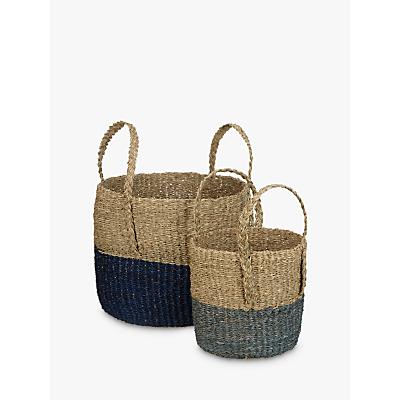 John Lewis Dipped Base Seagrass Basket, Set of 2