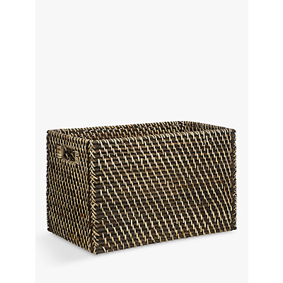 John Lewis Blackwash Rattan Basket