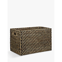 Buy John Lewis Blackwash Rattan Basket Online at johnlewis.com