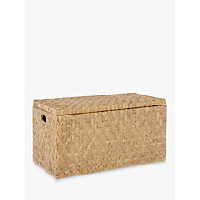 Buy John Lewis Fusion Water Hyacinth Trunk, Natural Online at johnlewis.com