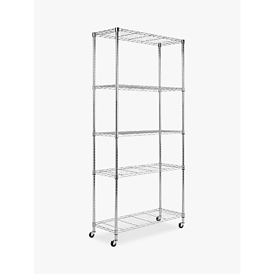 John Lewis Flex Chrome Storage Rack, 5 Tier