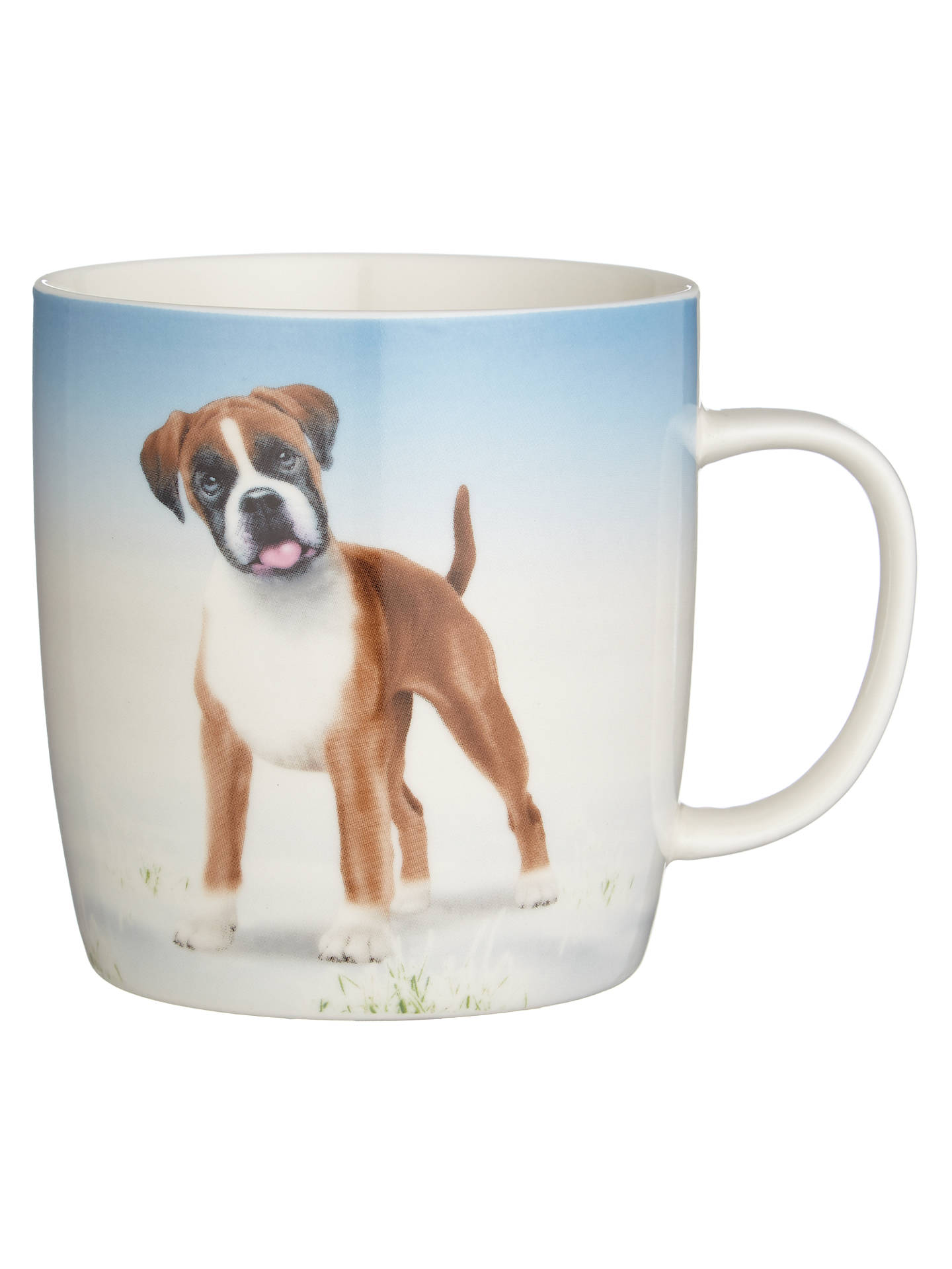 Buy John Lewis & Partners Buster the Boxer Christmas Mug, Blue Online at johnlewis.com