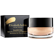 Buy Elizabeth Arden Beautiful Color Liquid Cheek Highlighter, Champagne Online at johnlewis.com