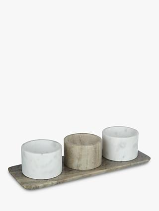 Croft Collection Arundel Marble Dip Bowl Set