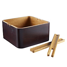 Buy John Lewis Oak Wood Salad Bowl With Servers Online at johnlewis.com
