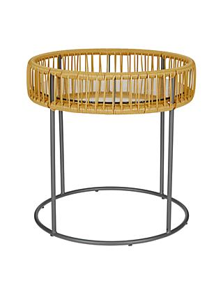 House by John Lewis Salsa Round Garden Side Table, 50cm, Saffron