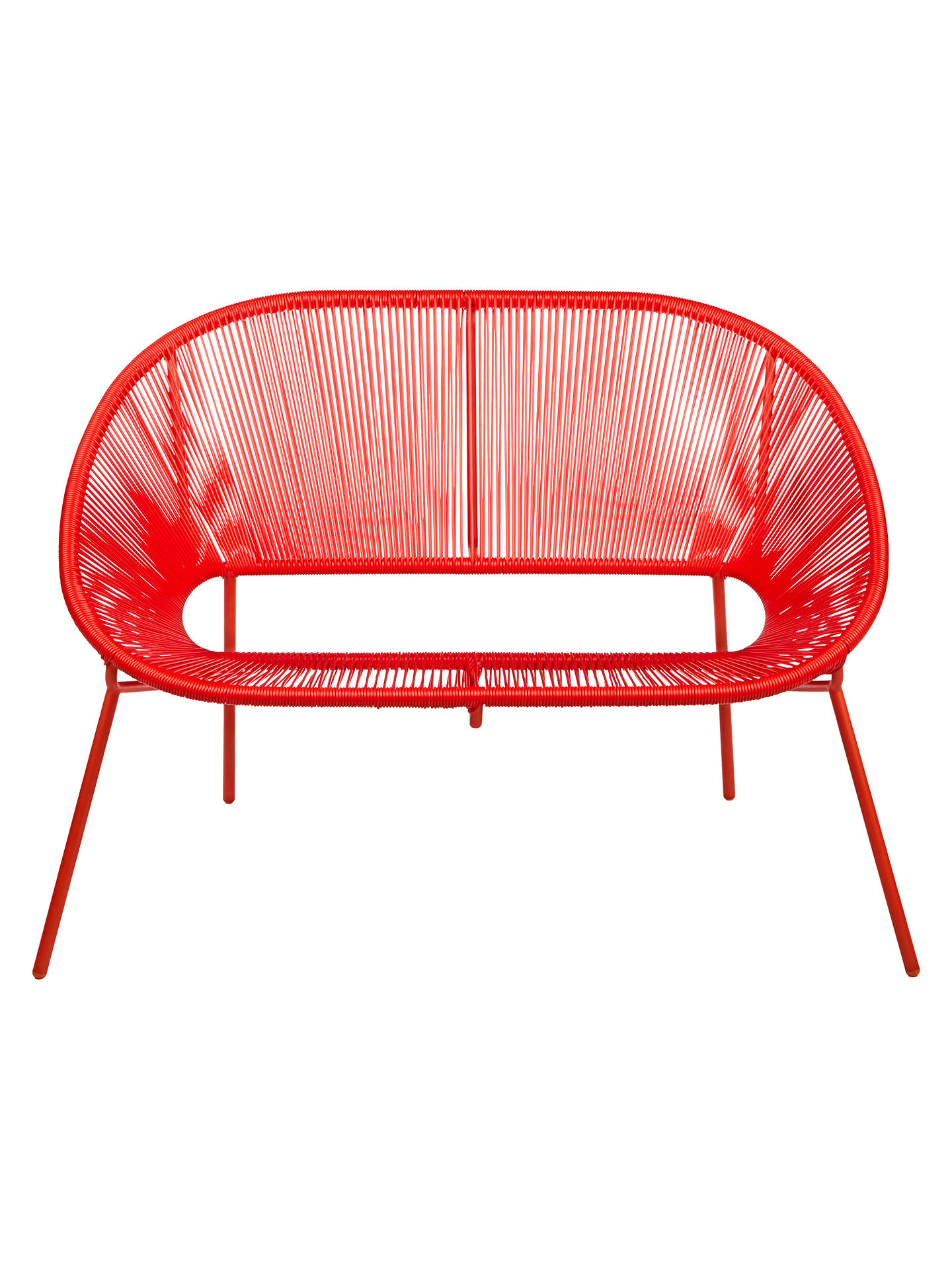 Buy House by John Lewis Salsa 2-Seater Garden Sofa, Chilli Online at johnlewis.com