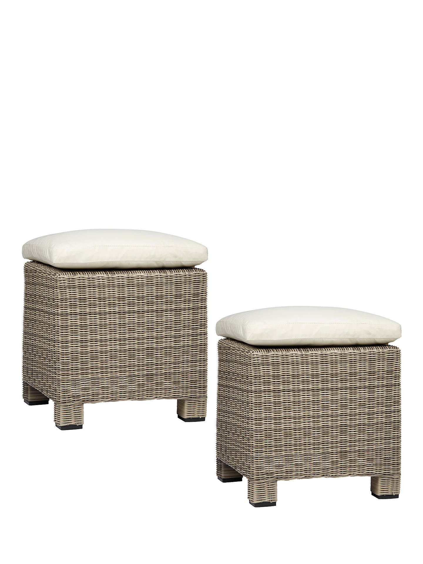 Buy John Lewis & Partners Dante Garden Foot Stool, Set of 2, Natural Online at johnlewis.com
