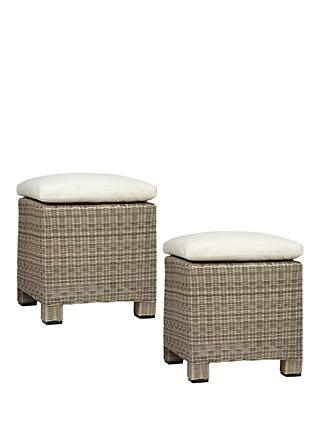 John Lewis & Partners Dante Garden Foot Stool, Set of 2