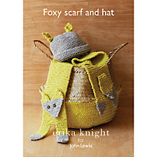 Buy Erika Knight for John Lewis Fox Scarf and Hat Knitting Pattern Online at johnlewis.com