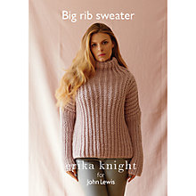 Buy Erika Knight for John Lewis Women's Big Rib Sweater Knitting Pattern Online at johnlewis.com