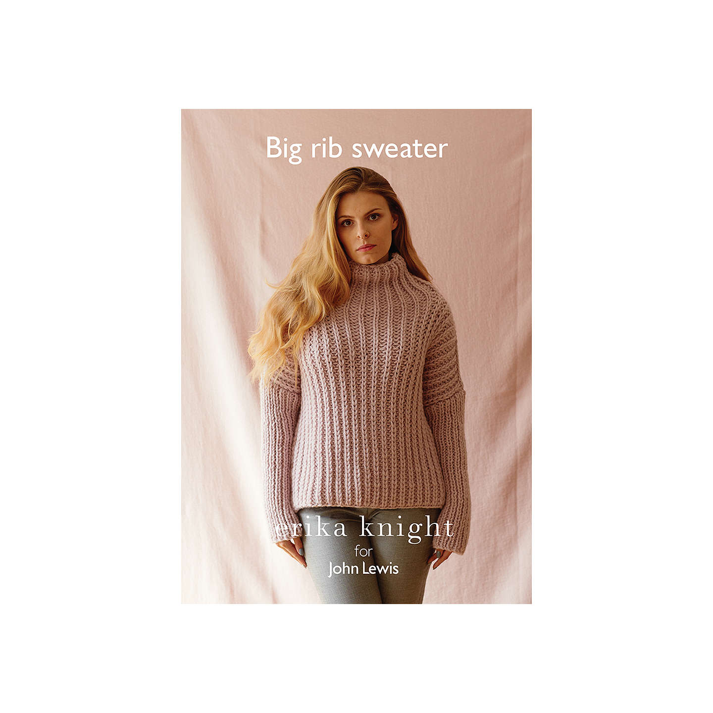 Erika Knight for John Lewis Women\'s Big Rib Sweater Knitting Pattern ...