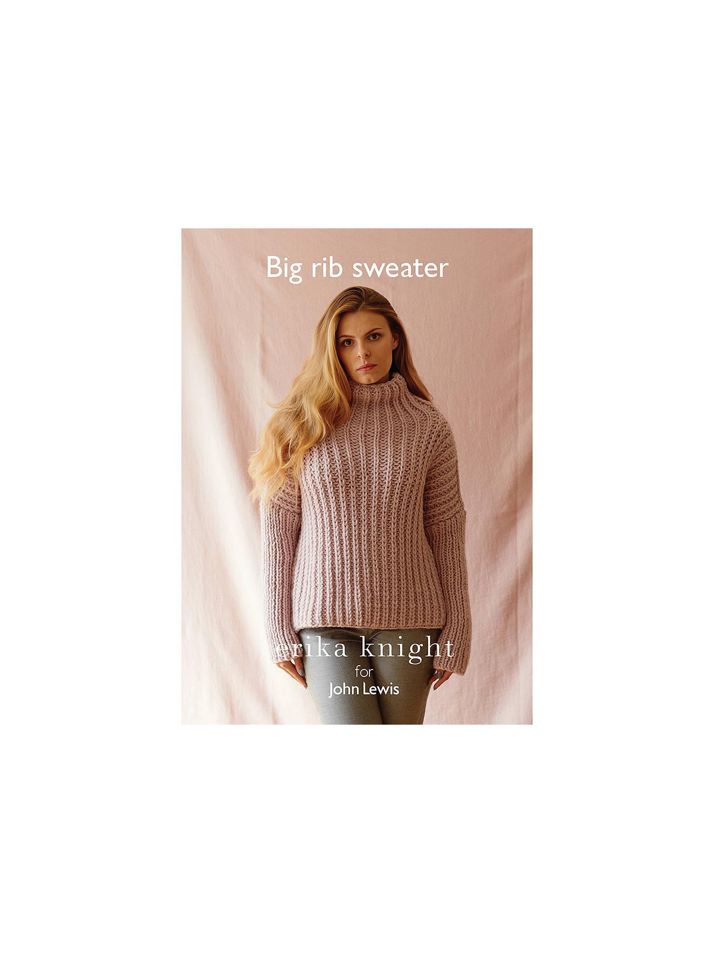 ea03d3d47580f6 Buy Erika Knight for John Lewis Women s Big Rib Sweater Knitting Pattern  Online at johnlewis.