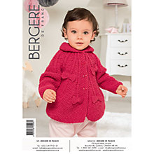 Buy Bergere De France Caline Baby Cardigan Knitting Pattern, 72596 Online at johnlewis.com