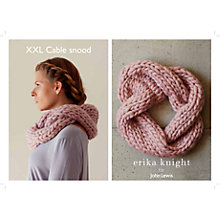 Buy Erika Knight for John Lewis XXL Cable Snood Knitting Pattern Online at johnlewis.com