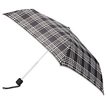 Buy John Lewis Fulton Victoria Check Umbrella, Grey Online at johnlewis.com