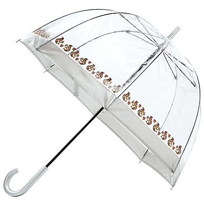 Vintage Style Parasols and Umbrellas Fulton Birdcage Squirrel Print Umbrella ClearBrown £20.00 AT vintagedancer.com