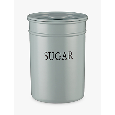 Product photo of John lewis classic enamel sugar storage canister duck egg