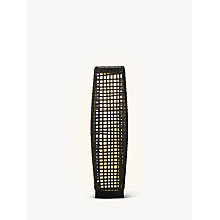 Buy John Lewis Large Outdoor Solar LED Rattan Lantern, Grey Online at johnlewis.com