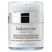 Buy Balance Me Restore and Replenish Overnight Repair Mask, 50ml Online at johnlewis.com