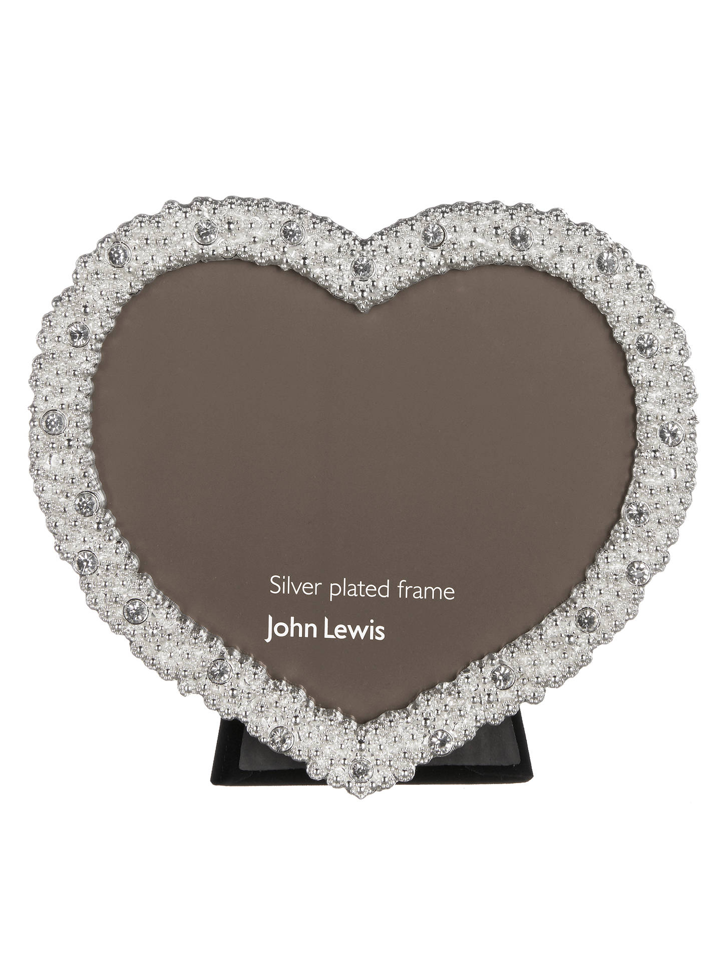 John Lewis & Partners Aurora Heart Photo Frame, Silver at John Lewis ...
