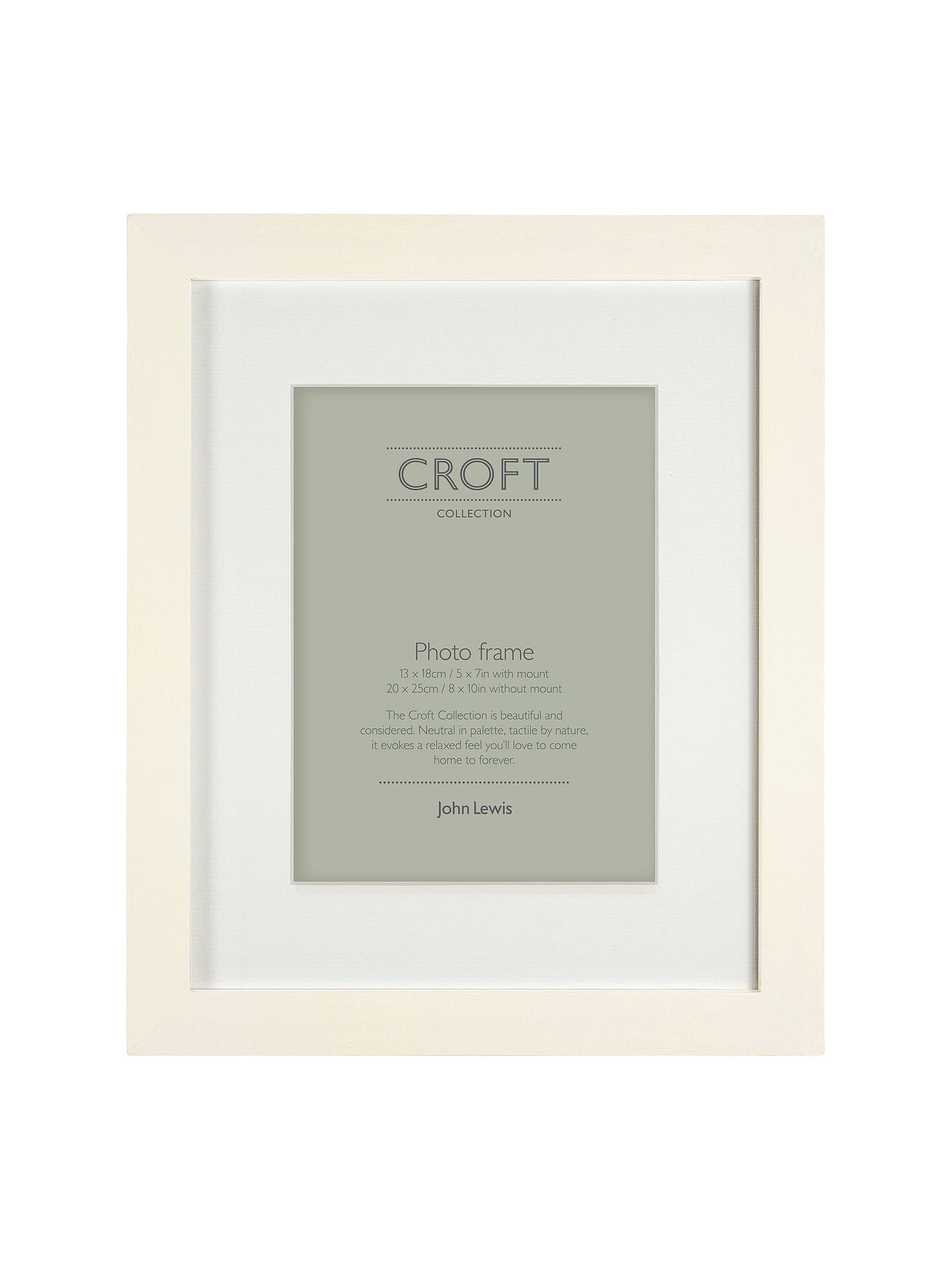 Croft Collection Solid Box Frame, 5 x 7\