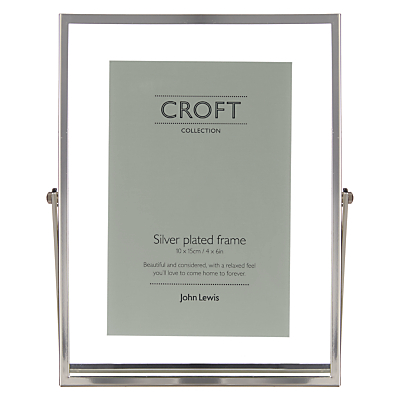 John Lewis Croft Collection Floating Photo Frame, 4 x 6, Silver
