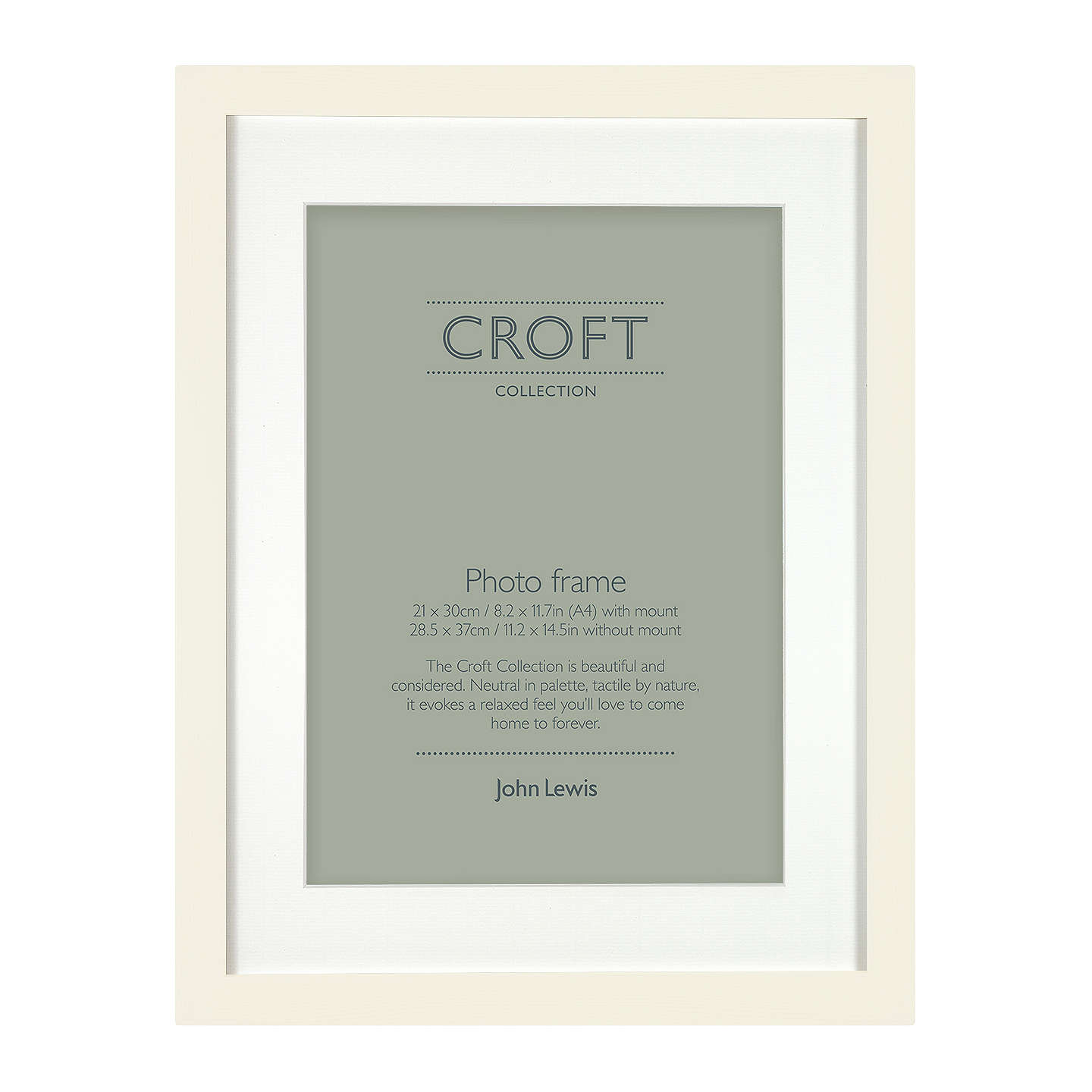 Croft Collection Frame & Mount FSC-certified, A4 (21 x 30cm) at John ...