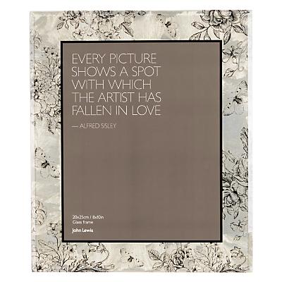 John Lewis Floral Garden Photo Frame, 8 x 10 (20 x 25cm), Gold