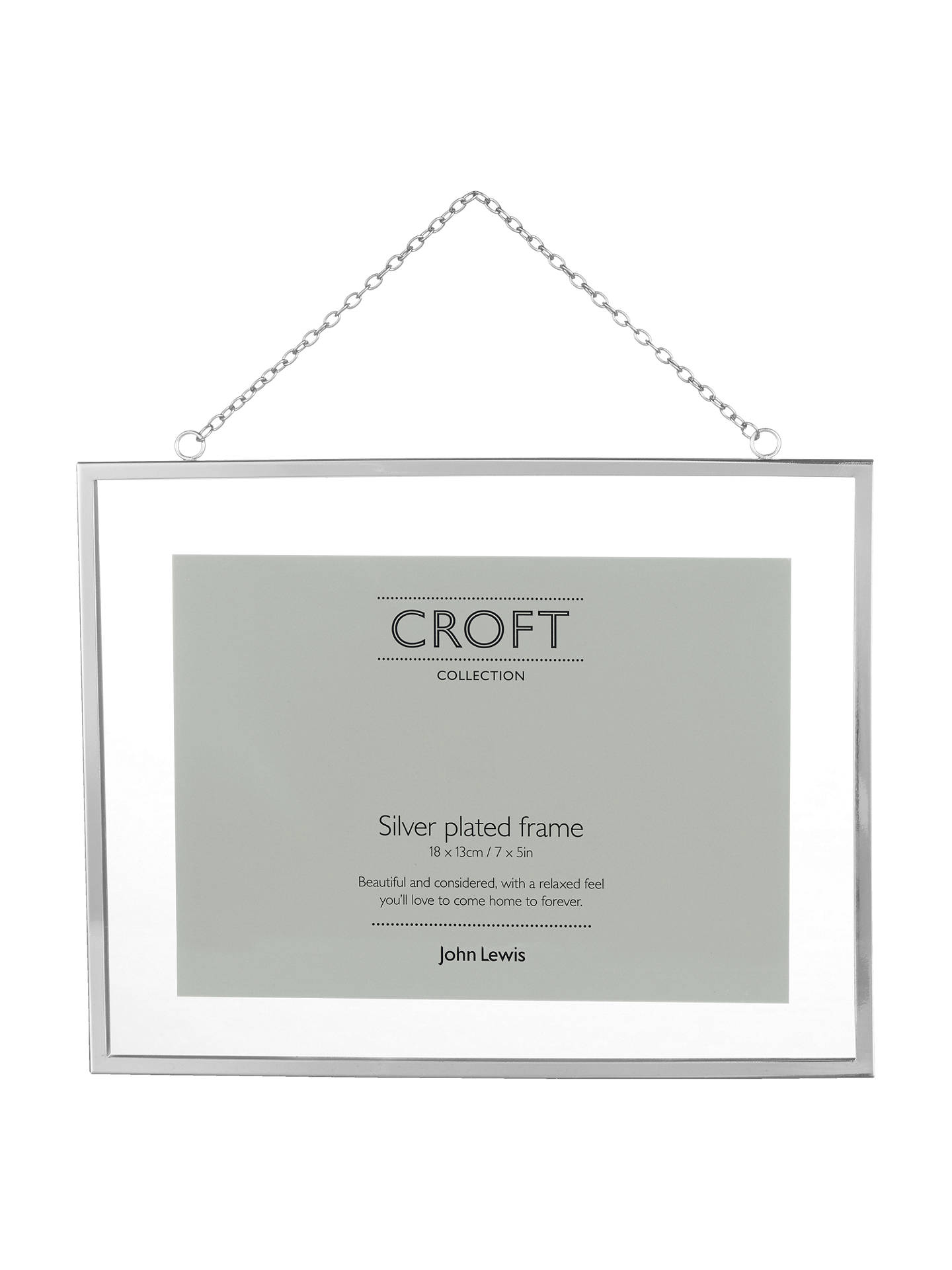 Croft Collection Hanging Photo Frame, 5 x 7\