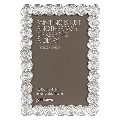 John Lewis Silver Rose Photo Frame, 4 x 6 (10 x 15cm)