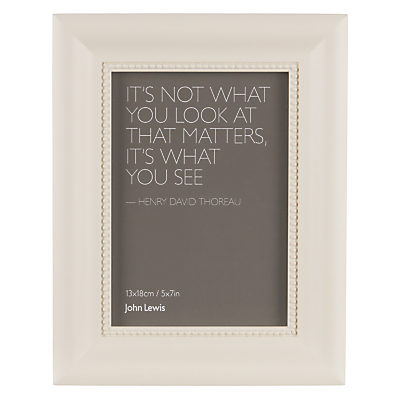 Product photo of John lewis beaded photo frame 5 x 7 country cream