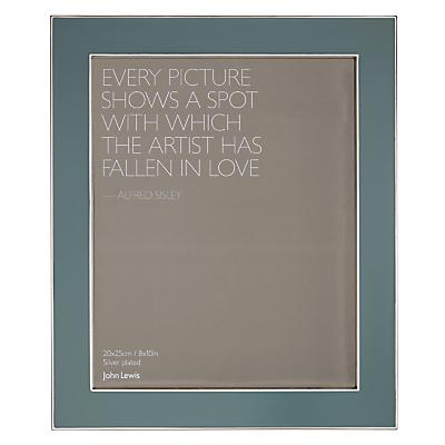 John Lewis Amy Eucalyptus Photo Frame, 8 x 10, Green