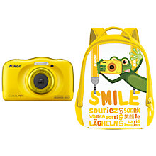 "Buy Nikon COOLPIX W100 Waterproof Digital Camera, 13.2MP, HD 1080p, 3x Optical Zoom, Bluetooth & 2.7"" LCD Screen Online at johnlewis.com"