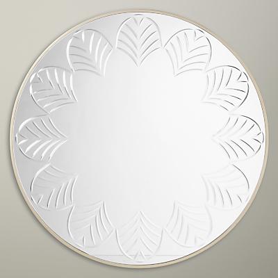 John Lewis Etched Glass Mirror, Dia.80cm