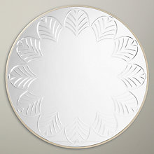 Buy John Lewis Etched Glass Mirror, Dia.80cm Online at johnlewis.com
