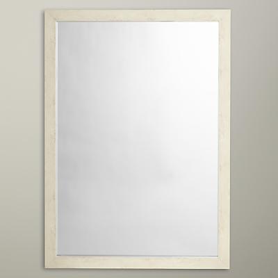 John Lewis Textured Mirror, 50 x 70cm, White