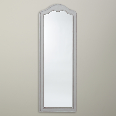 John Lewis Painted Shaped Full Length Mirror, 141 x 49cm, Grey