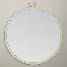 Buy John Lewis Distressed Brass Bird Round Mirror, Dia.43cm Online at johnlewis.com