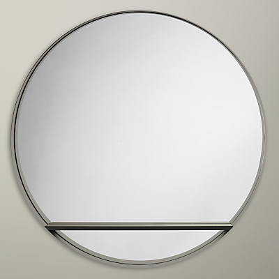 Design Project by John Lewis No.120 Circle Mirror With Shelf, Black