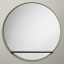 Buy Design Project by John Lewis No.120 Circle Mirror With Shelf, Black Online at johnlewis.com