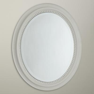 John Lewis Small Oval Mirror, Duck Egg, 40 x 50cm