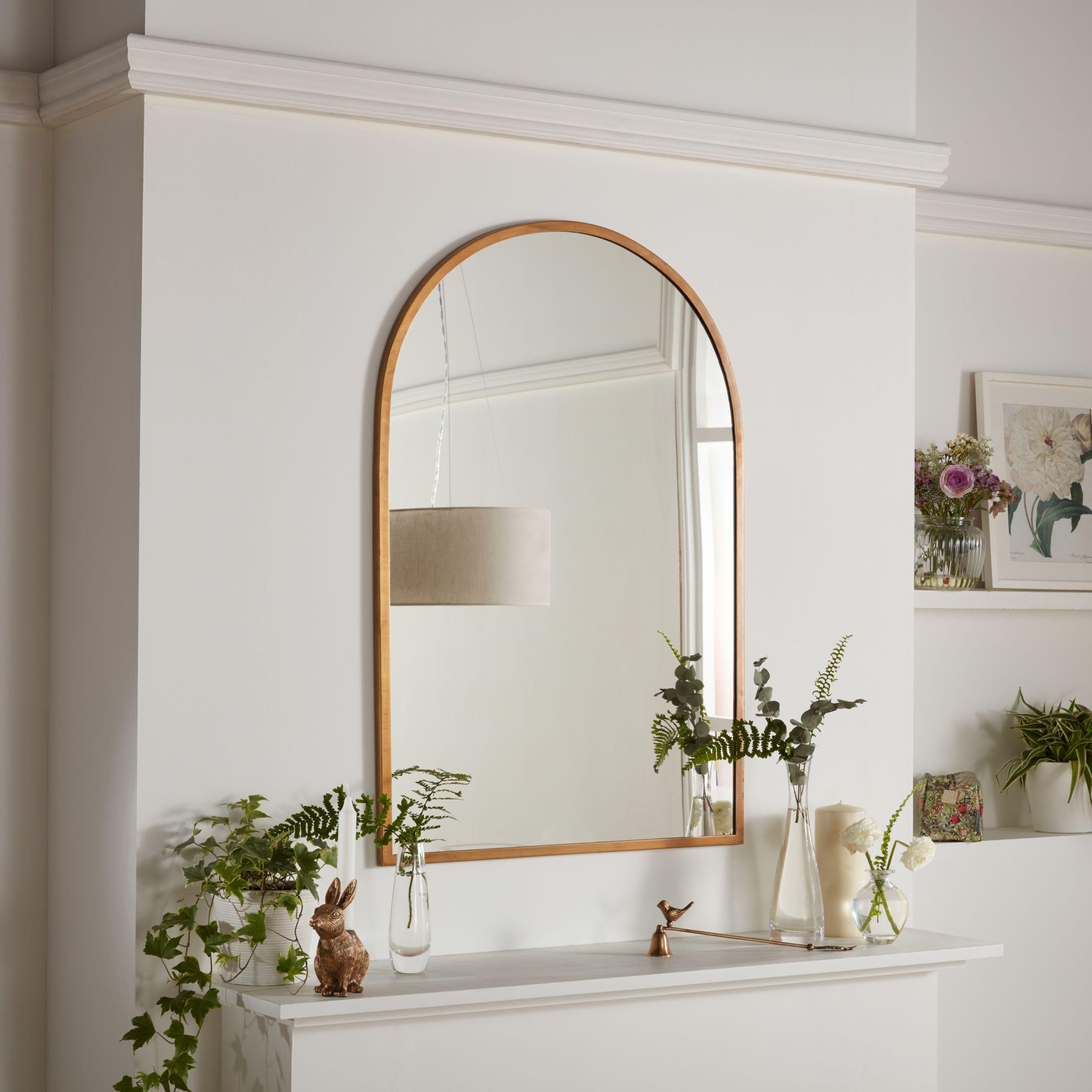 John Lewis Arch Mirror Antique Brass At John Lewis Partners